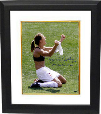 Brandi Chastain signed Olympic Team USA 16X20 Photo Custom Framed USA-1999 World Cup Champion- Steiner Hologram (Celebration)