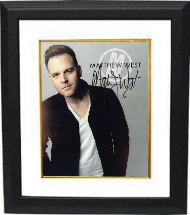 Matthew West signed 8X10 Photo Custom Framing (Christian Music Artist– Singer/songwriter)