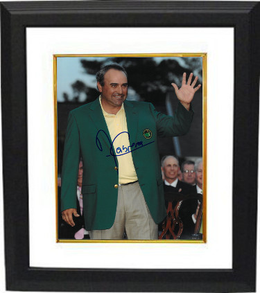 Angel Cabrera signed PGA 11x14 Photo Custom Framed (2009 Augusta National Masters Championship green jacket)