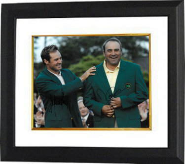 Angel Cabrera signed PGA 11x14 Photo Custom Framing w/ Trevor Immelman - JSA Hologram (2009 Augusta National Masters Championshi