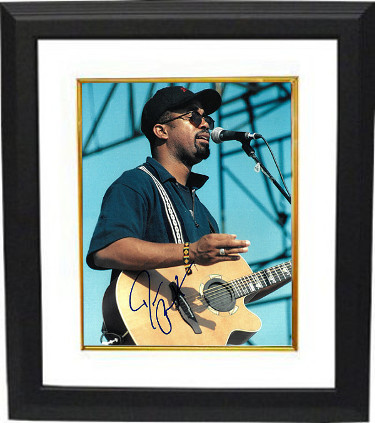 Darius Rucker signed 8x10 Photo Custom Framed (with guitar/Hootie & the Blowfish)- PSA/JSA/BAS Guaranteed To Pass