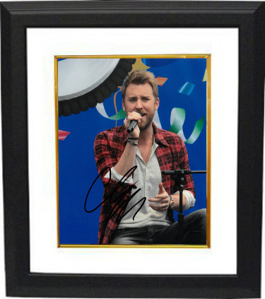 Charles Kelley signed Lady Antebellum 8x10 Photo Custom Framed - JSA HOLOGRAM
