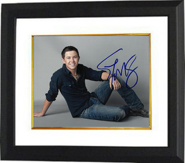 Scotty McCreery signed 8x10 Photo Custom Framed (horizontal) - JSA HOLOGRAM