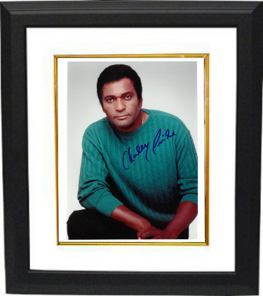 Charley Pride signed 8x10 Photo Custom Framed (white border)- PSA/JSA/BAS Guaranteed To Pass