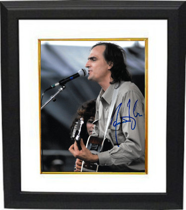 James Taylor signed 8x10 Photo Custom Framing - JSA Hologram