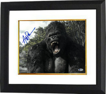 Andy Serkis signed King Kong 11X14 Photo Custom Framed (horizontal- blue sig)- Beckett Holo #C65545