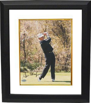 Steve Elkington signed 8x10 Photo Custom Framed- Mounted Hologram