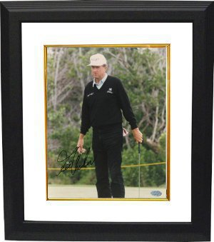 George Archer signed 8x10 Photo Custom Framing- Mounted Hologram