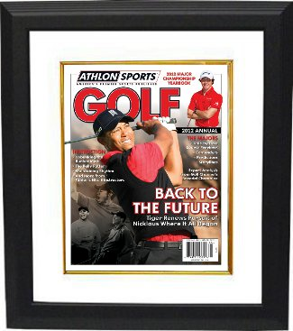 Tiger Woods 2012 Athlon Sports PGA Golf Magazine Cover Custom Wood Framing