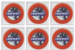 Hockey Puck Acrylic Display Case Cube- Case of 6