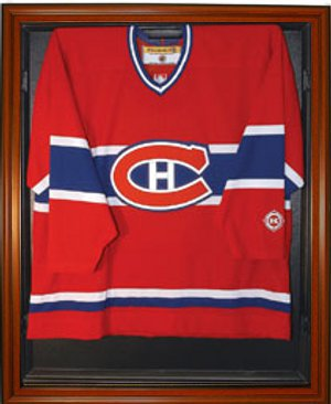 Hockey Jersey Deluxe Full Size Display Case Wood