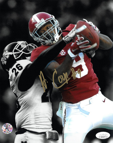 Amari Cooper signed Alabama Crimson Tide 8X10 Photo #9- JSA Hologram (vertical spotlight vs Mississippi St.)