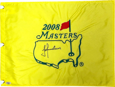 Trevor Immelman signed 2008 Augusta Masters Embroidered PGA Golf Pin Flag- JSA #LL60449 (Champion)