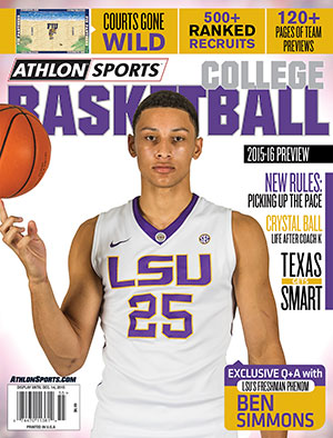 2015-16 Athlon Sports College Basketball Preview Magazine- LSU Tigers Cover