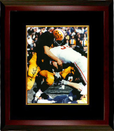 Dick Butkus signed Illinois Fighting Illini 8x10 Photo Custom Framed- BAS- Beckett Hologram