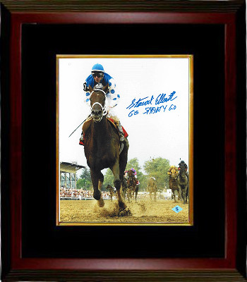 Smarty Jones signed 2004 Preakness Horse Racing 8x10 Photo Custom Framed Go Smarty Go