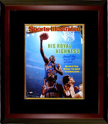 Bernard King signed New York Knicks 16x20 Photo Sports Illustrated Cover Custom Framed May 7, 1984 19,655 Pts/HOF- Steiner Holo