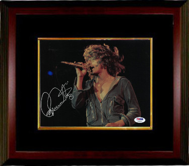 Roger Daltrey signed The Who 8x10 Photo Custom Framed (horizontal)- PSA Hologram (music/entertainment)