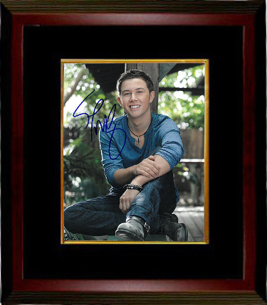 Scotty McCreery signed 8x10 Photo Custom Framing - JSA Hologram (vertical)