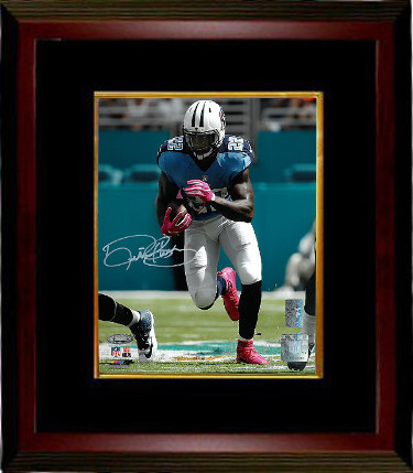Derrick Henry signed Tennessee Titans 8x10 Photo Custom Framed (blue jersey-white sig)- Henry & Tri-Star Holograms