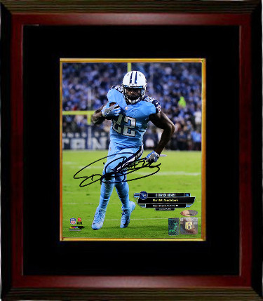 Derrick Henry signed Tennessee Titans 8x10 Photo Custom Framed (1st Touchdown October 27, 2016)- Henry & Tri-Star Holograms