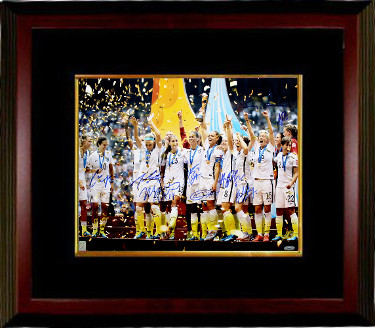 2015 World Cup Champions Team Signed 16x20 photo Custom Framed (9-sigs)  Carli Lloyd, Morgan Brian, Shannon Boxx- Tri-Star Holo