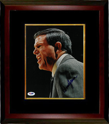 Denny Crum signed Louisville Cardinals Coaching 8x10 Photo Framed Photo- PSA Hologram