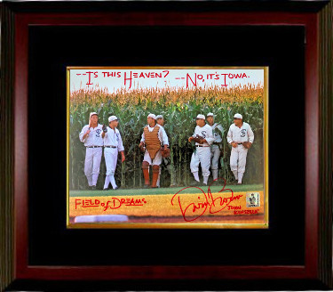Dwier Brown signed 8x10 Photo Custom Framing Is This Heaven?, No It's Iowa, John Kinsella & Field of Dreams- 4 insc- Brown Holo