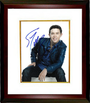Scotty McCreery signed 8x10 Photo Custom Framed (vertical/white background)- PSA/JSA/BAS Guaranteed To Pass