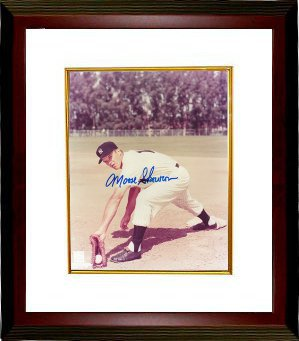 "Bill ""Moose"" Skowron signed New York Yankees 8x10 Photo Custom Framed (deceased)"