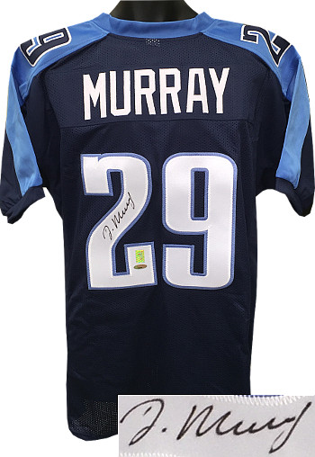 DeMarco Murray signed Dark Blue Custom Stitched Pro Style Football Jersey XL-Tri-Star & Murray Holograms