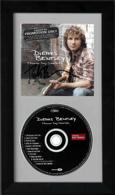 Dierks Bentley signed Modern Day Drifter Album CD Cover with CD 6.5x12 Custom Framing- JSA Hologram #CC09718