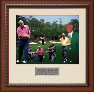 Arnold Palmer  4X Augusta Masters Champion Collage 16x20 Photo Custom Wood Framing
