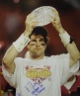 Matt Leinart signed USC Trojans 16x20 Photo w/ Trophy- Heisman 04/ 2X Champs- Leinart Hologram