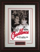 Casablanca Movie Poster Premium Leather Framing 20x28 Humphrey Bogart, Ingrid Bergman