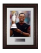 Tiger Woods 2005 British Open at St. Andrews Holding Trophy 16X20 Photo Premium Leather Framing