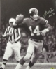 YA Tittle signed New York Giants B&W Passing Vertical 16x20 Photo HOF 71