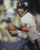 YA Tittle signed New York Giants Color Passing Vertical 16x20 Photo HOF 71