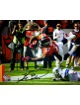 Knowshon Moreno signed Denver Broncos 11x14 Photo (orange jersey TD dive)- Moreno Hologram