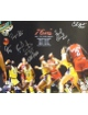 Clemon Johnson signed Philadelphia 76ers 16x20 Photo 1983 NBA Champions w/ 6 Signatures vs Lakers