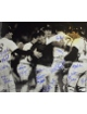 Rich Gedman signed Boston Red Sox 16x20 B&W Photo 1986 AL Champs w/ 19 Signatures