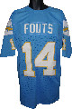 Dan Fouts Powder Blue TB Custom Stitched Pro Style Football Jersey XL