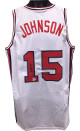 Magic Johnson signed Team USA Olympic Dream Team White TB Custom Stitched Basketball Jersey XL- Beckett Hologram