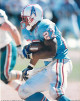 Eddie George unsigned Tennessee Oilers 8x10 Photo #27 (blue jersey vs Dolphins)
