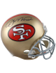 Joe Montana signed San Francisco 49ers Full Size Replica TB Helmet- Montana/Tri-Star Holograms