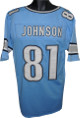 Calvin Johnson Blue Custom Stitched Pro Style Football Jersey XL