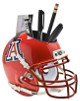 Arizona Wildcats (Scarlet) NCAA Football Schutt Mini Helmet Desk Caddy