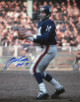 YA Tittle signed New York Giants Blue Jersey Passing Vertical 16x20 Photo HOF 71