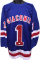 Ed Giacomin signed Blue TB Custom Stitched Hockey Jersey HOF 87 XL- JSA Hologram