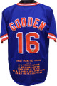 Doc Gooden signed Blue TB Custom Stitched Baseball Jersey w/ Embroidered Stats XL